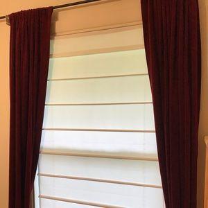 "White Corded Window Shades 33""x64"""